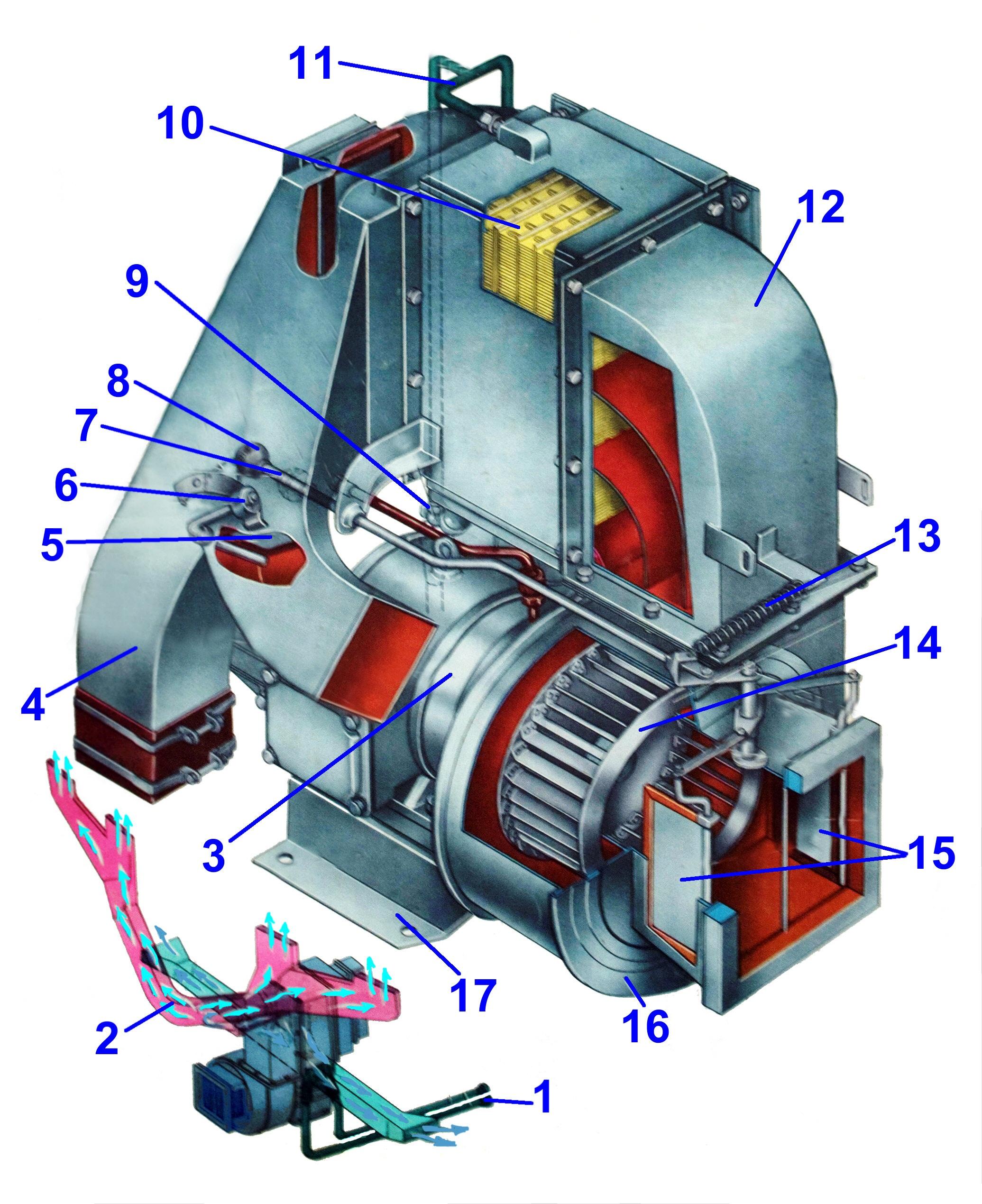 схема тепловоза 2тэ116у