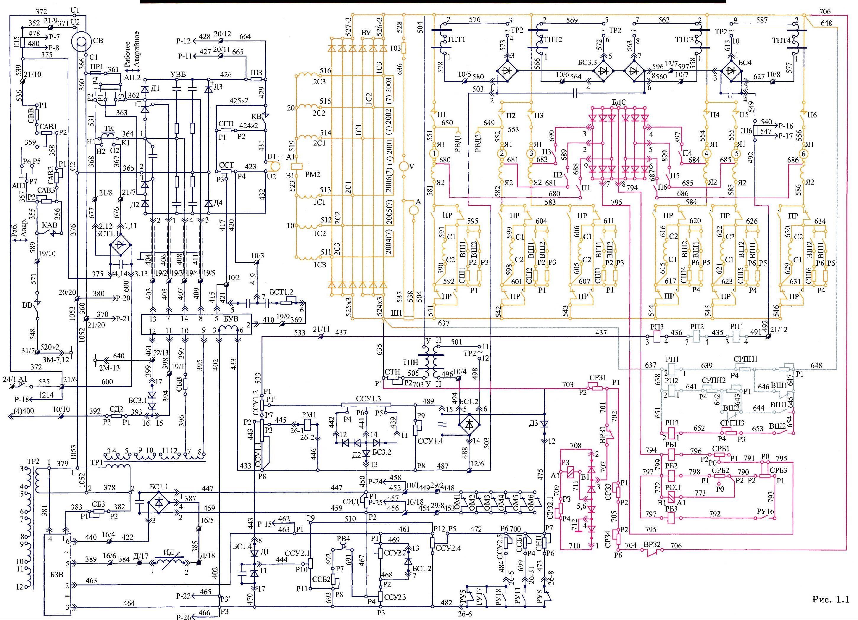 Электрическая схема дизеля др1а